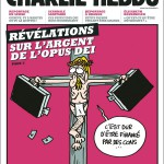 One of Charlie Hebdo's Une about christianism, referencing a previous Une about islam.