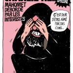 Charlie Hebdo's Une published as a nod to the Jyllands-Posten Muhammad cartoons in 2006.