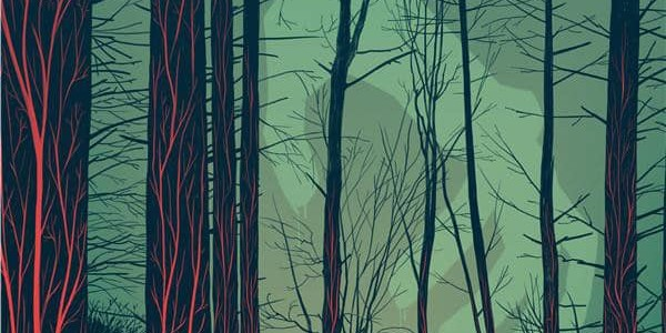 Couverture de The woods, le survival de James Tynion IV et Michael Dialynas (Ankama)