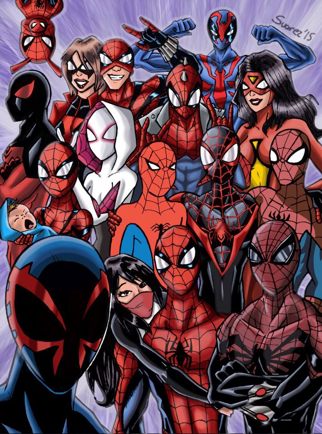Les projets Sony/ Marvel/ Spider Verse The_spider_verse_selfie__by_ultimatejulio-d8ea3pp-1