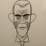 Goscinny et le cinéma (photo D. Canteau - Comixtrip) - caricature Boris Karloff